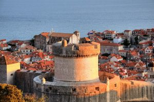 Travelling through the Ancient city walls of Dubrovnik
