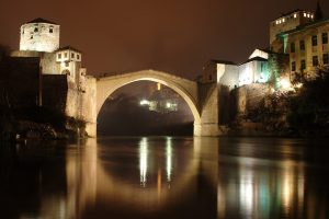 Don't forget to visit the Mostar bridge in the evening