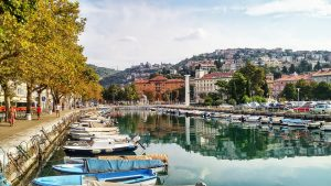 See the Rjeka harbour and the downtown