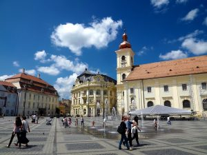 Walking and exploring within the urban area of Sibiu