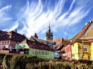 Exploring the colorful urban architecture in Sighisoara