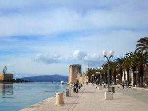 Walkin at harbour aria in Trogir