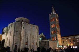 Enjoying the nightlife in Zadar